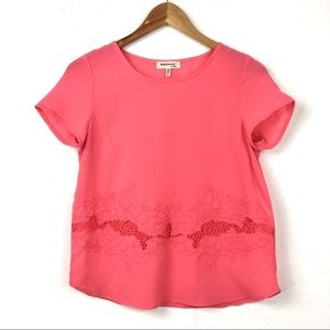 Monteau | Lace Embroidered Dressy Tee